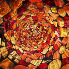 Autumnal Swirl (ahockley) Tags: autumn fall fallcolors glass orange red shotoniphone shotoniphone6 swirl tinyplanets yellow