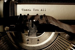 Thank You  All (patrick.verstappen) Tags: thankyouall typewriter xxx old remington gingelom google flickr facebook photo picassa pinterest paper patrickverstappen twitter yahoo ipernity ipiccy inspiration inkt d5100 nikon april thanks macro