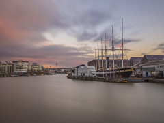 as the clouds roll in (Wizard CG) Tags: bristol floating harbour ss great britain outdoor waterfront water isambard kingdom brunel western steamship company dockyard harbourside england sun set epl7 olympus longexposure