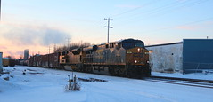 CSX 780, UP 8436, Chapman, Neenah, 26 Jan 19 (kkaf) Tags: neenah a447 chapman csx up sd70ace es44ah