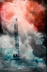 Dessiner à l'encre vide (Fabrice Le Coq) Tags: texture flots bateaux flou lac mer couleurs fabricelecoqfoto