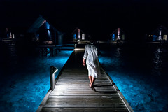 Rocío, The Maldives. February 2019 (Victor M. Perez) Tags: leicam10 leica streetphotography bluesea nighttime vacation overwater atoll indianocean themaldives