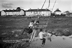 LIMERICK DAILY LIFE 1970S EIRE (Homer Sykes) Tags: boys teen teenagers teenage play playing outside limerick countylimerick southernireland wire dailylife 1970s 70s 1979 irish people person southhillestate archivestock