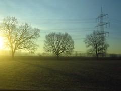 winter sunrise (4) (mgheiss) Tags: sunnrise sonnenaufgang canonpowershots120 hochspannungsleitung stromleitung winter morgen morning