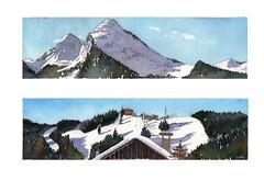 Morzine (Cyrille B) Tags: croquissemaine aquarelle watercolor mountain morzine nyon pleney