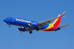 Southwest Airlines Boeing 737-800 N8643A (jbp274) Tags: lax klax airport airplanes southwest wn boeing 737