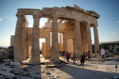 The Parthenon at sundown (routemates) Tags: europe athens greece antiquity mediterranean acropolis lycabetus parthenon