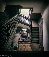 Going Down, and Down, and Down (KRHphotos) Tags: stairs hdr architecture abandoned virginia swannanoapalace