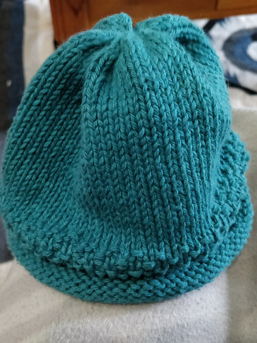 Cotton baby beanie, made by yours truly