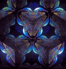 Flower Square (Sea Moon) Tags: petals kaleidoscope polarizing polarized plastic reflections patterns symmetry abstract colorful psychedelic