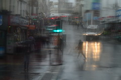 DSC_9591 (Gunit77) Tags: rain umbrella lights shops brighton van bus people crossing
