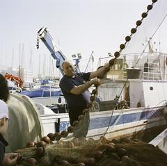 Palermo (Phil Adelphia) Tags: palermo rolleiflex rullino film 120 analog sicily fisher men port porto pescatori