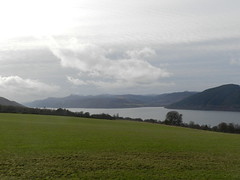 View of Loch Ness from Dores, Feb 2019 (allanmaciver) Tags: loch ness dores highlands scotland grey clouds viewpoint mountains scenery farmland allanamciver