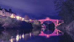 Iron Bridge Telford (pboolkah) Tags: canon canon5d canon5dmkiv telford river lights night nightsky