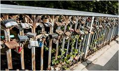187- CANDADOS Y MAS CANDADOS - CAMINO DE LA REPÚBLICA INDEPENDIENTE DE UZUPIS EN VILNIUS - LITUANIA - (--MARCO POLO--) Tags: ciudades curiosidades rincones puentes candados