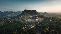 Haven of Peace (Thibaut Machin) Tags: lanscape sunset vietnam peace haven moutains pagoda ninh binh light
