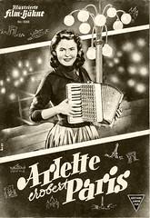 """""""Arlette erobert Paris"""" Filmprogramm (zimmermann8821) Tags: johannamatz brd darstellerin ilustriertefilmbühne filmprogramm filmwerbung kino schauspielerin rotaryfilm"""