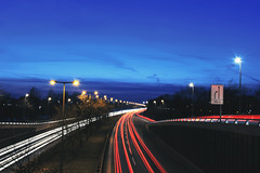 Highway at Night (airspex) Tags: night nightlights nightsky berlin berlinatnight highway autobahn a10