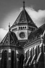 Budapest in black and white (PhotoFreakx) Tags: industrual architectural street lumix blackandwhite hungary budapest cathedral bw church