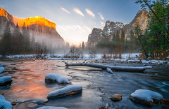 Yosemite Valley View! Colorful Clouds Sunrise! Nikon D850 Yosemite National Park Winter Snow Bridalveil Falls El Capitan Snowy Rocks! Yosemite NP Dr. Elliot McGucken Fine Art Snow Photography!  Sony A7R II & 16-35mm F4 Carl Zeiss Wide Angle Lens! (45SURF Hero's Odyssey Mythology Landscapes & Godde) Tags: yosemite colorful clouds sunrise nikon d850 national park winter snow tunnel view bridalveil falls el capitan snowy rocks np dr elliot mcgucken fine art photography sony a7r ii 1635mm f4 carl zeiss wide angle lens high res 4k 8k photos