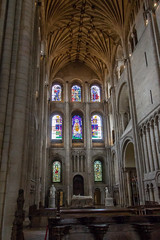 IMG_5211 Window and Statues in North Transept (Beth Hartle Photographs2013) Tags: norfolk norwich cathedral anglican ancient historic benedictine monastery churchofengland stainedglass ceilingvaulting 13thcentury