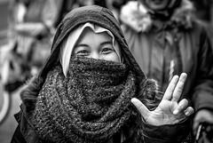 eyes do tell (Gerrit-Jan Visser) Tags: amsterdam eyes gesture happy portrait smiling street streetphotography woman makes it