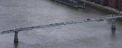 Millenium Bridge (RedPlanetClaire) Tags: london capitol city england uk view shard skyscraper millenium bridge river thames