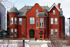 John F. Taylor House -- Sisters of St. Joseph (Can Pac Swire) Tags: toronto ontario canada canadian building architecture 2019aimg8368 2 oconnordrive sistersofstjoseph queen anne revival style red brick