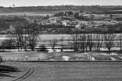 Burey en Vaux (karmajigme) Tags: burey meuse lorraine france travel landscape countryside village water fields monochrome bw noiretblanc blackandwhite nikon