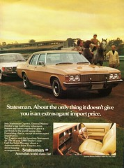 1977 HX Stateaman Caprice By Holden Aussie Original Magazine Advertisement (Darren Marlow) Tags: 1 7 9 19 77 1977 h x hx holden s statesman c caprice sedan car cool collectible collectors classic a automobile v vehicle g m gm gmh general motors aussie australian australia 70s