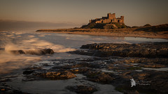 Bamburgh Castle (Lumen01) Tags: castle rocks water seascape sea coast coastline northumberland listedbuilding sand beach on1 on1raw nikon d800 sunset bamburgh