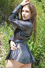 Grey vinyl trench (sexyrainwear_dot_online) Tags: vinyl pvc latex leather lack leder boots overkneeboots overknees lackundleder lackleder lackmantel vinylcoat vinyljacket vinylskirt pvcskirt lackjacke lackstiefel