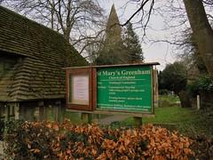 St Mary's Greenham Church (Normann) Tags: greenham church sign signboard
