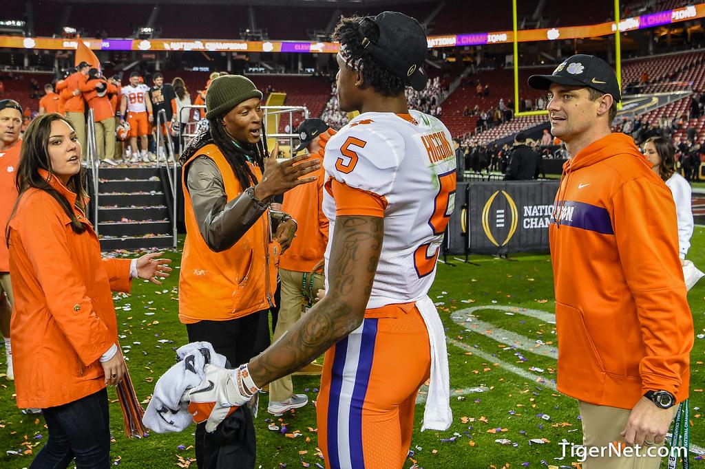 Clemson Photos: De Andre  Hopkins, Tee  Higgins, 2018, Football, alabama