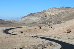 0195 Curving roadway on Artists Drive in Death Valley (_JFR_) Tags: camping hiking deathvalley deathvalleynationalpark artistsdrive