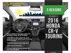 Why Buy 2016 Honda CR-V Touring in San Diego (MaximusMotors) Tags: san diego cars honda for sale kearny mesa facebook instagram car