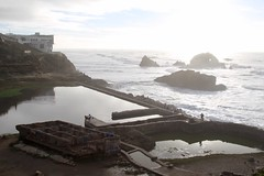 View of Sutro Baths ruins from north (daveynin) Tags: landsend sanfrancisco nps ocean shore ruins abandoned pool sutrobaths coastline rocks seastack stack pacificocean