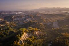 晨光時分│左鎮二寮│Tainan (Nick_Ning_Huang) Tags: taiwan tainan zuozhen sun sunlight sunrise light magichour goldenhour cloud fog mountain badlands landscape drone aerial dji mavic mavic2pro hasselbladl1d20c hasselblad