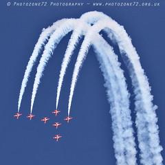 0017 7 ship loop R1 R2 R3 R5 R6 R7 R9 (photozone72) Tags: raf rafat redarrows reds redwhiteblue aviation aircraft jets hawk canon canon100400f4556lii canon7dmk2 7dmk2 scampton lincolnshire