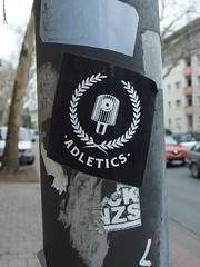 ADLetics (mkorsakov) Tags: münster city innenstadt ring sticker aufkleber graffiti crew adl