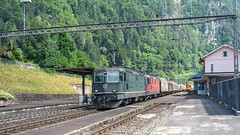 SBB Re 4'4 3 11364 & Re 4'4 2 11292 Amsteg-Silenen 07 July 2015 (7) (BaggieWeave) Tags: switzerland swiss swisstrains swissrailways gotthardrailway gotthard gotthardbahn sbb cff ffs re44 re66 amsteg silenen