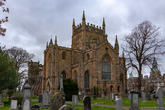 Dunfermline Abbey (circa 1128) (Rourkeor) Tags: 1128 35mm 35mmzeisssonnartlens abbey architecture dunfermline dunfermlineabbey fife kingrobertthebruce rx1r romanesque scotland sony uk cemetery fullframe graves graveyard historic medieval monastic