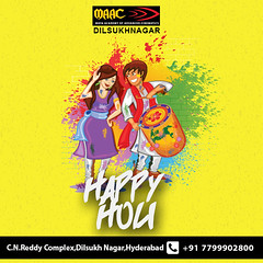 Happy Holi (maacdilsukhnagar) Tags: events 3d animation training hyderabad gaming design graphic multimedia vfx