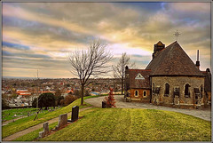 Chapel on the Hill (Jason 87030) Tags: chapel hil steep moung old history listed view skenes panoramic views uk england graves cememtery tress unitedkingdom march 2019 structure historic grounds knowlehill kimberley broxtowe notts