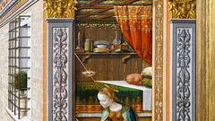 Crivelli, The Annunciation, detail with lower interior