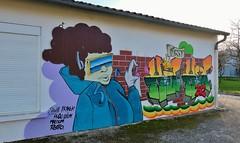 Aytré cité, graffitis (thierry llansades) Tags: aytré aytre larochelle graf graffiti graff graffitis graffs grafs gare graphisme spray aerosol painting bombing mur wall mural charentemaritime charente charentes charentesmaritime girl