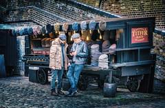 Titfer Classic Hat Shop (Dannis van der Heiden) Tags: hats hat people cart camdenmarket camden london england uk conversation men brickwall brick cobblestones market lightbulb nikond750 d750 tamron70210mmf4 titfer titferhats