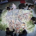復元模型による被災地支援活動の写真