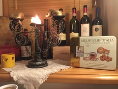 Great candles ;-) Nice wine collection 19:16:57 (andrey.salikov) Tags: great candles nice wine collection