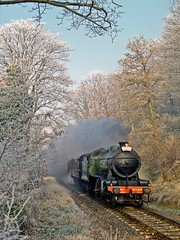 The Great Marquess, December 1991 (David Rostance) Tags: 3442 61994 lner classk4 svr northwood bewdley worcestershire severnvalleyrailway